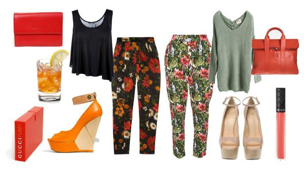 floral trousers day to night