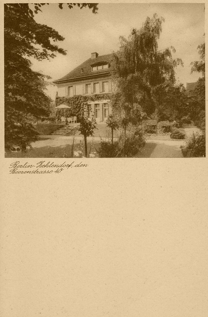 Berlin Zehlendorf Beerenstraße 1940 Visitenkarte