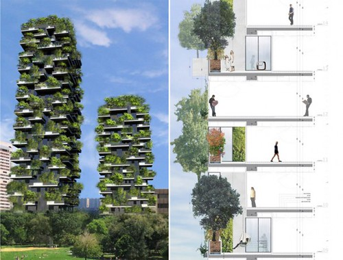 Bosco Verticale (by: Stefano Boeri via Inhabitat)
