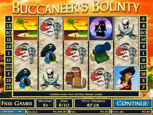 Buccaneer's Bounty Free Spins