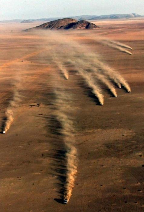 Rallye Granada - Dakar Luftaufnahme beim Start