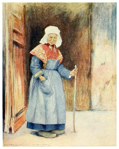 006-En el porche de la catedral de Quimper-Brittany 1912- Mortimer y Dorothy Mempes