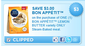 Bon Appetit Lemon Butter Variety Only Steam-baked Meal. Coupon