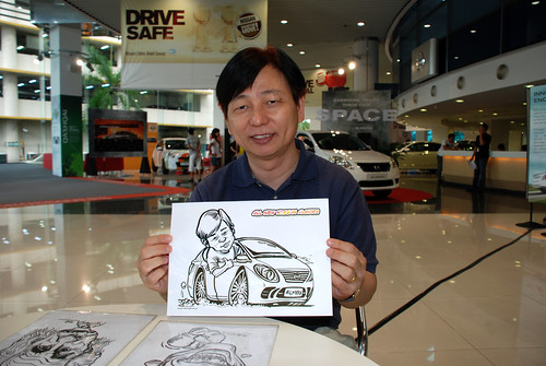 Caricature live sketching for Tan Chong Nissan Motor Almera Soft Launch - Day 3 - 15