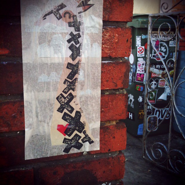 On my wall Collingwood Road Paste-Up