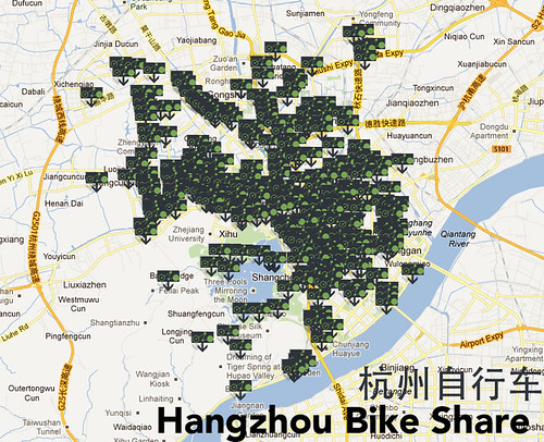 Hangzhou Bike Share Map