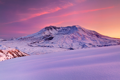 Winter Sunset, Mt. St. Helens
