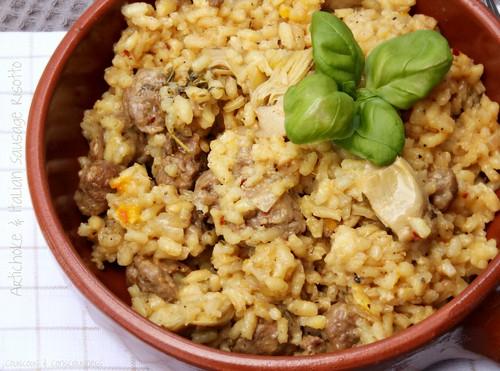 Artichoke & Italian Sausage Risotto 1