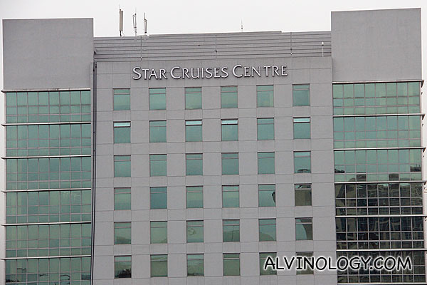 View from my hotel room - Star Cruise Centre, the head office