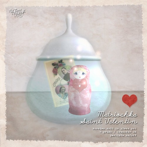NuDoLu Voyage Matriochka Saint Valentin for TGGS AD