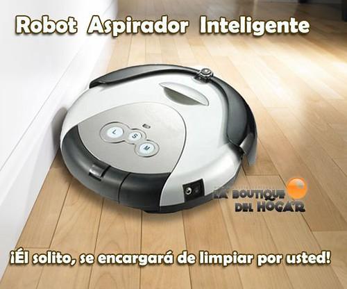 Robot aspiradora limpia tus pisos de forma automatica - Robot que limpia el piso ...