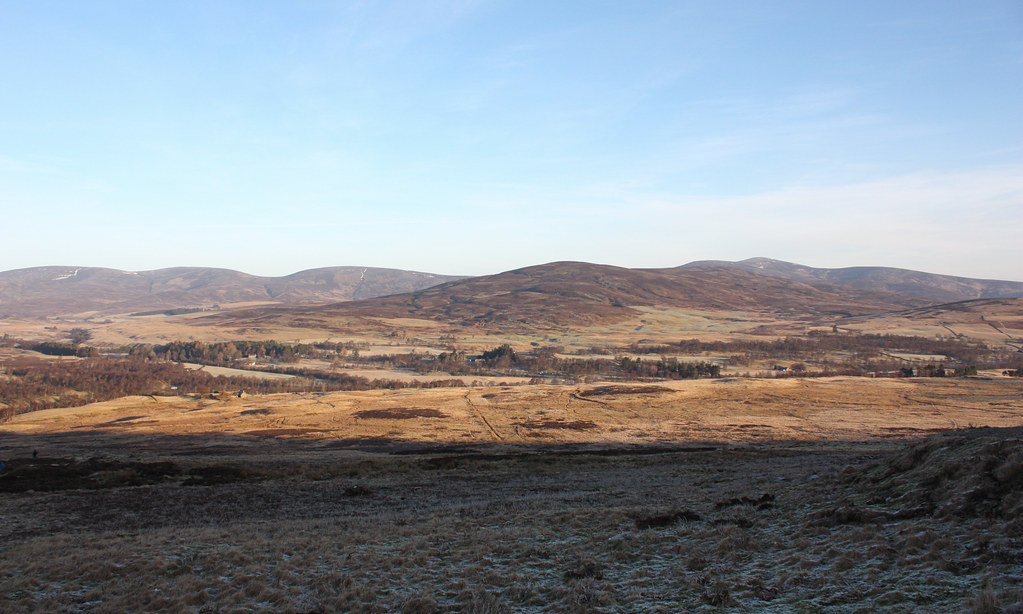 The hills north of Glen Esk