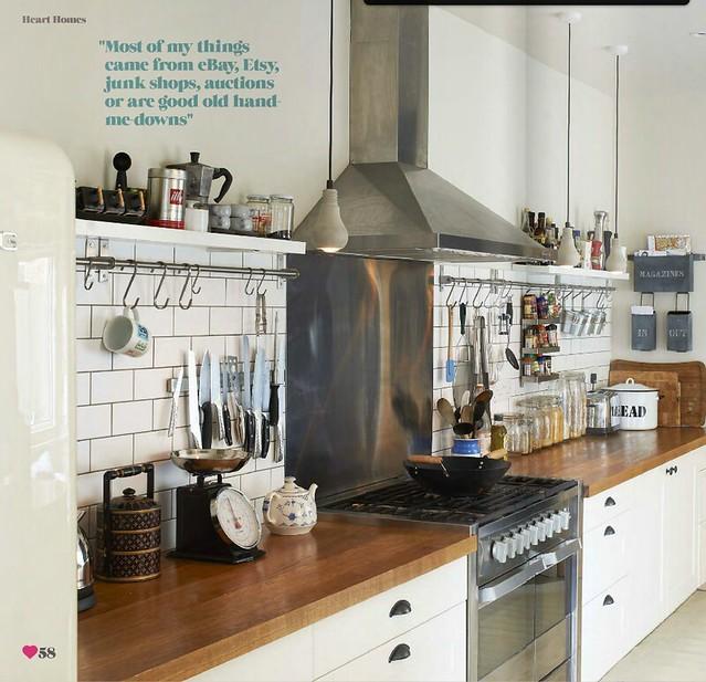 Industrial Kitchen Home: Sarah Ellison / Olly Gordon / Heart Home Magazine {white