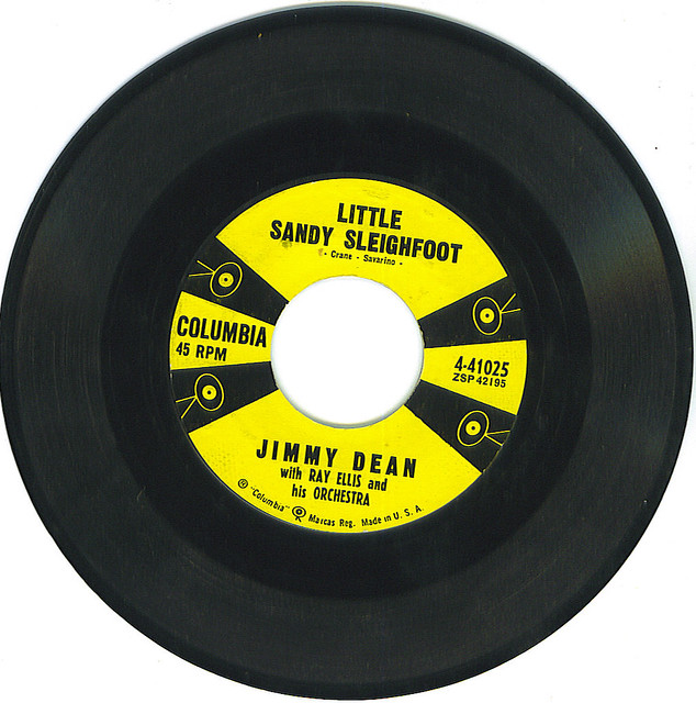 """Little Sandy Sleighfoot"" by Jimmy Dean, Columbia Records"