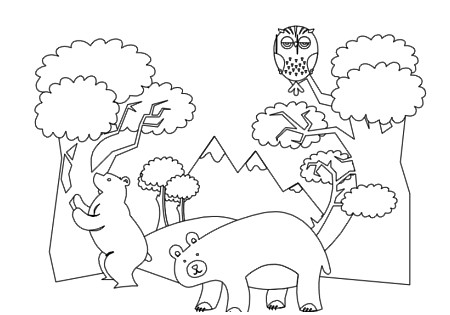Forest Animals Colorin...