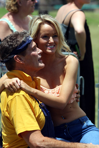 David Hasselhoff and Hayley Roberts by Eva Rinaldi Celebrity and Live Music Photographer
