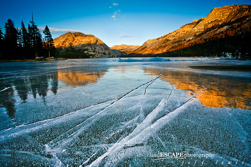 Calm Before the Storm | Sunset over frozen Tenaya Lake, Yosemite