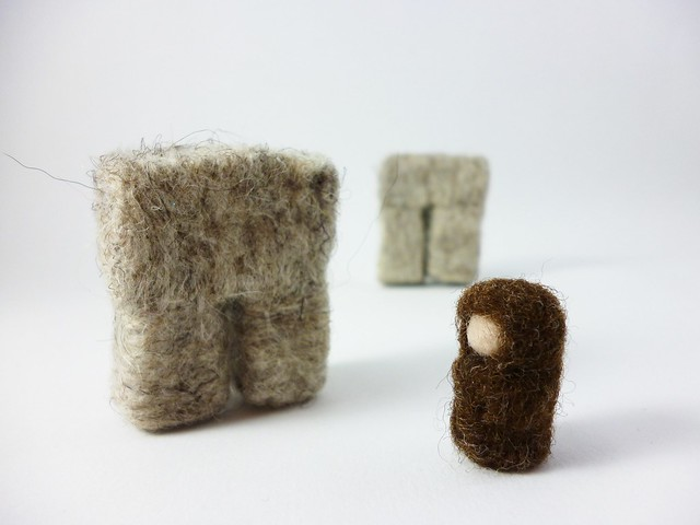 Stonehenge and druid in wool
