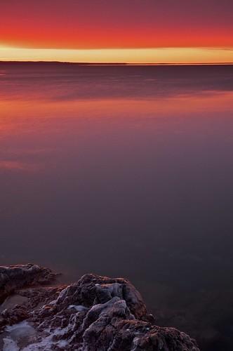 winter sunset seascape ontario colour one greatlakes whitefishbay lakesuperior northernontario groscap princetownship nd106 gnd2h TGAM:photodesk=water2012 tgamwater