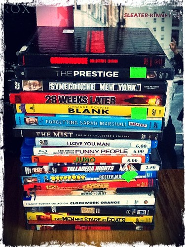 new (used) DVD stack