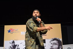 Azhar Usman at the performance of the Make Chai Not War comedy show presented by the American Center in Mumbai on January 18, 2012