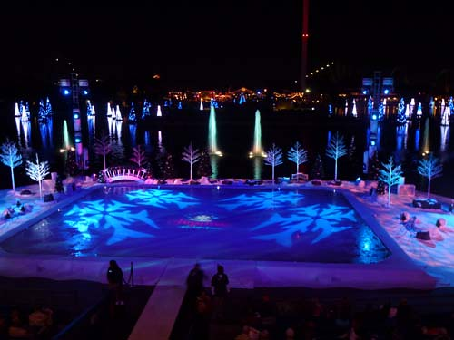 SeaWorld Ice Skating Fountains Sea of Trees Reflections Photographer Eileen Ludwig