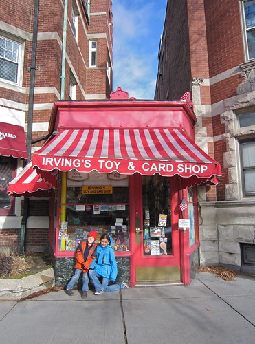 Exterior Shot of Irving's Toy & Card Shop, Brookline MA