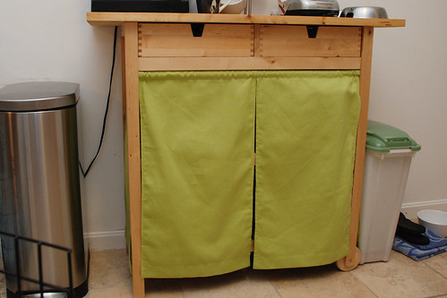 kitchen cart curtain