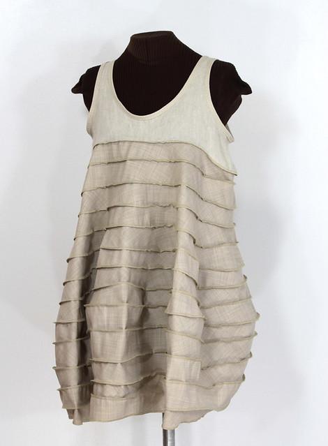 cocoona moderna sculpted linen and wool dress flickr. Black Bedroom Furniture Sets. Home Design Ideas