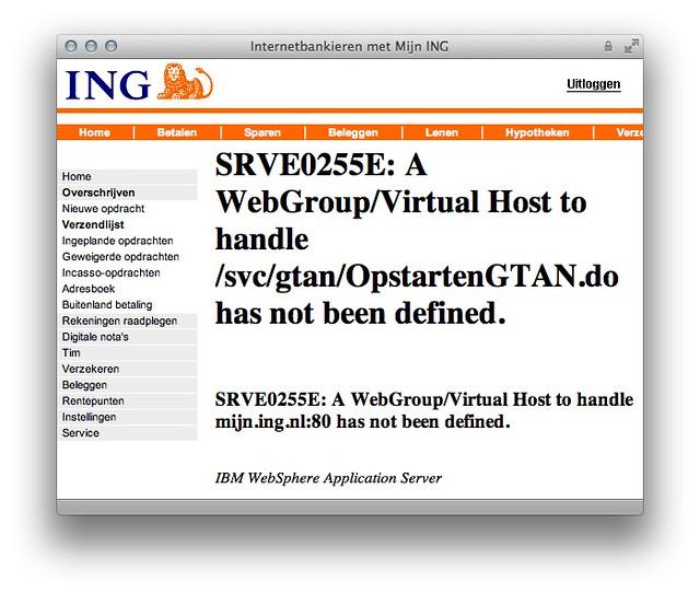 Internetbankieren met Mijn ING #FAIL   A webGroup/Virtual Ho ...