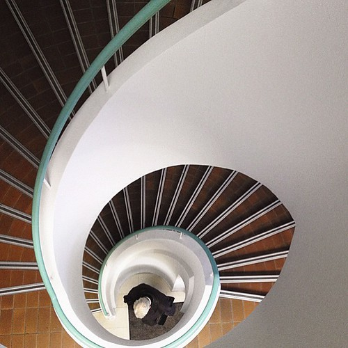 Caught in a spiral #iphoneography #spiral #staircase