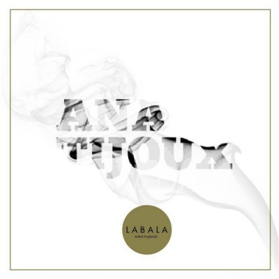 The white album cover of La Bala that reads Ana Tijoux illuminated by a puff of grey smoke