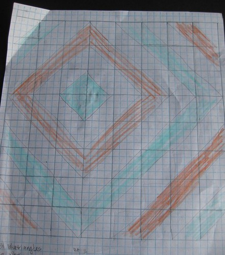 diagonal pattern sketch