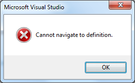 Cannot navigate to definition.