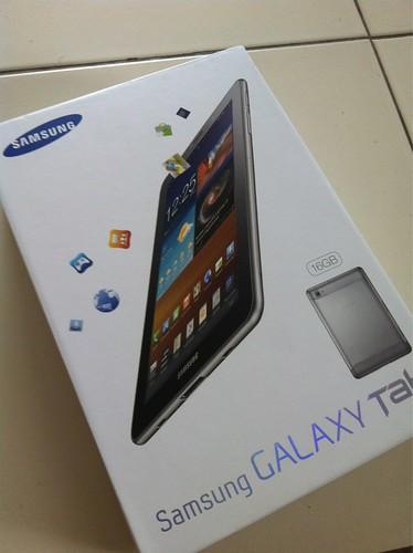 Samsung Galaxy Tab 7.7 P6800, box