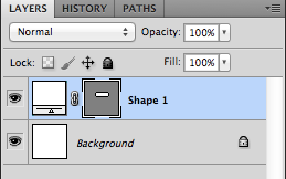 3. Shape layer in the Layers palette.