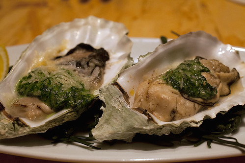 Oysters Rockefeller for dessert