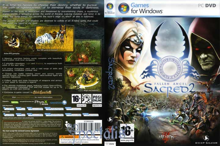Sacred 2: Fallen Angel Cover Scan