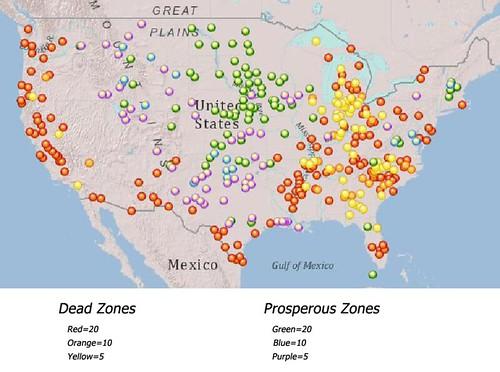 dead zones & prosperous zones (by: Louis Ferlenger, Alternet)