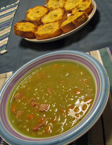 Mushy peas and ham soup!