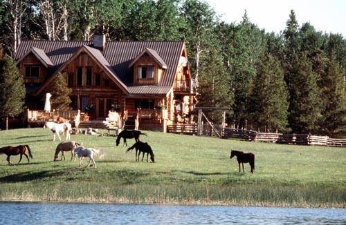 Siwash Lake Ranch with horses