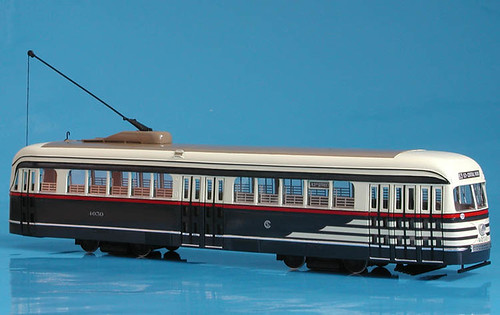 A St. Petersburg Tram Company O Scale model of a Chicago Surface Lines 1936 PCC streamlined streetcar. by Eddie from Chicago