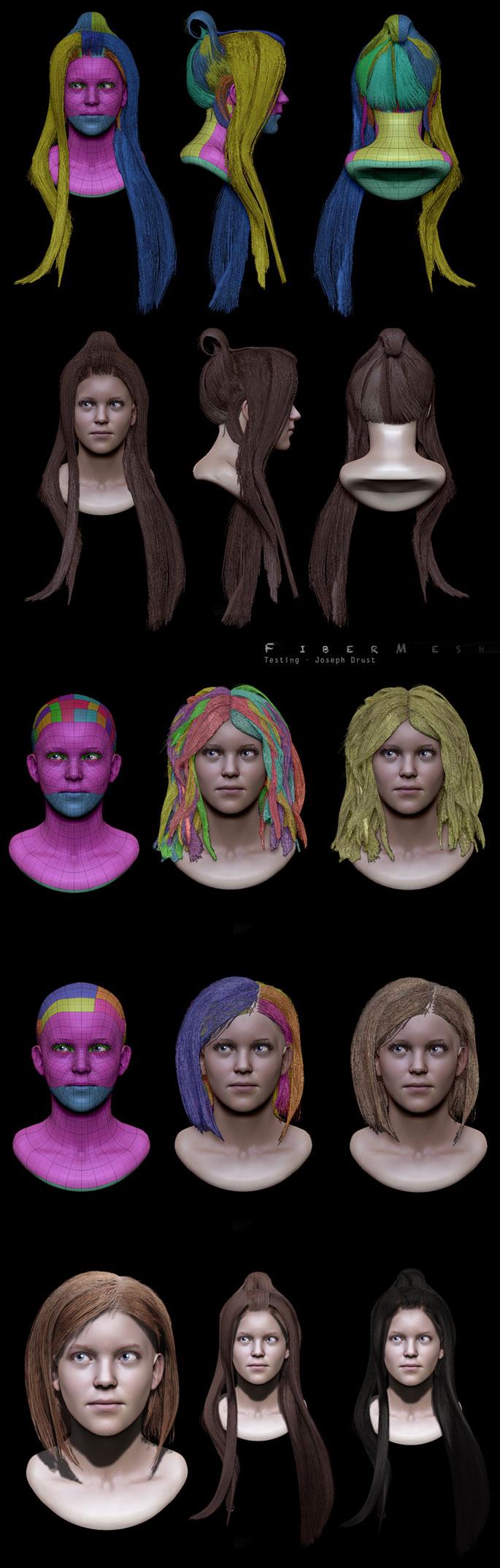 Ejemplo del nuevo pelo de Zbrush 4R2b