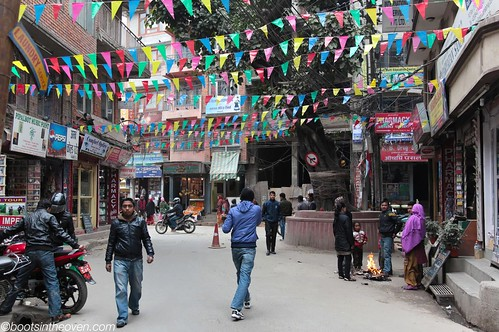 Entering Thamel