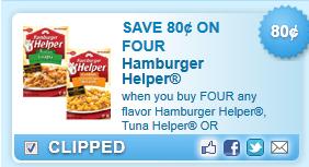Hamburger Helper, Tuna Helper Or Chicken... Coupon