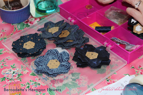 Bernadette's Blue Hexagon Flowers