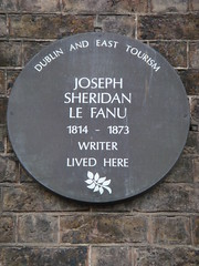 Photo of Joseph Sheridan Le Fanu brown plaque
