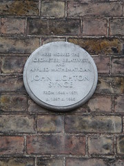 Photo of John Lighton Synge white plaque