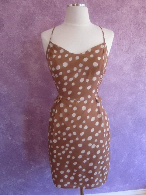 Camel dot dress