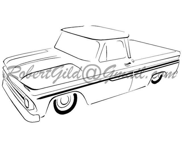 1987 Chevy Truck Drawing